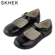 Skhek جديد ربيع الأطفال أحذية للبنات زهرة الاطفال عارضة حذاء طفل الأحذية حار بيع الفتيات الأميرة الأحذية السوداء d602