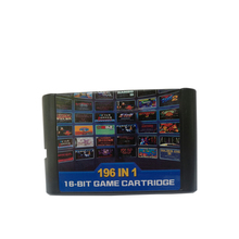 10 pcs a lot Hight quality 196 in 1 games cards cartridge 16 bit For Sega Mega Drive MD For PAL and NTSC drop shipping professional portable for sega everdrive md cartridge
