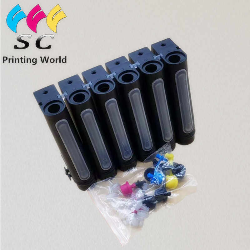 UV LED Tinta Kosong untuk Epson R330 R290 T50 L800 UV Flatbed Printer 6 Warna 100 Ml