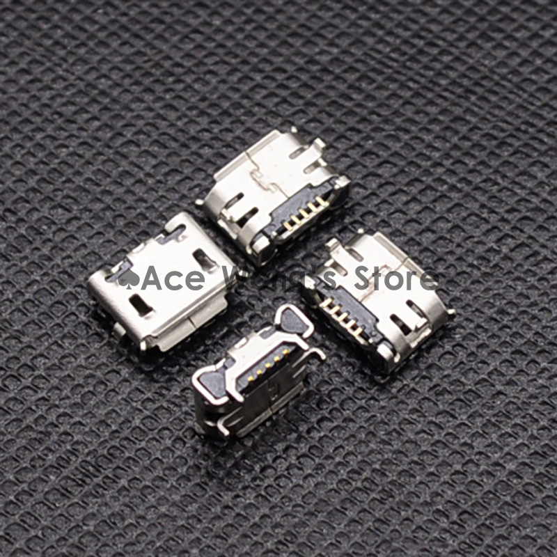 10pcs Micro USB Connector Jack Female Type 5Pin SMT for phones Tail Charging socket PCB Board 50 pcs micro usb type b female socket 180 degree 5 pin smd smt jack connector