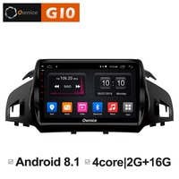 1024*600 Android 8.1 Quad 4Core 2GB RAM+16GB ROM Car DVD Player for Ford Kuga 2013 2017 GPS Navi Radio Stereo 4G WIFI TPMS DAB