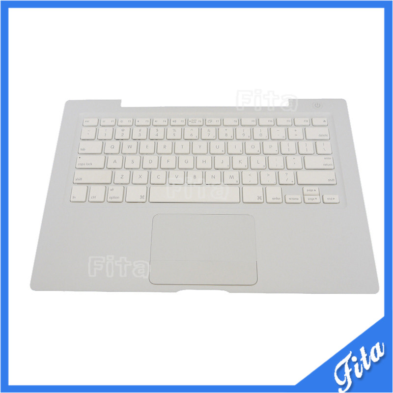 Used for Macbook A1181 13.3 WHITE US Top Case Palmrest with Trackpad & Keyboard new for macbook pro a1286 us top case