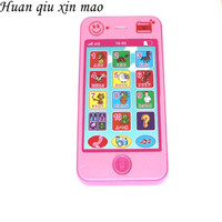 Huan qiu xin mao Children's toys phone baby educational simulationp kids music mobile phone Russian/English language Baby phone