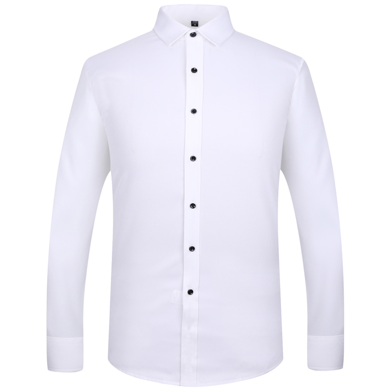 Men 39 S Solid Color High Quality Bamboo Fiber Shirt Wedding Groom Men Must Have Items Men 39 S Long Sleeves