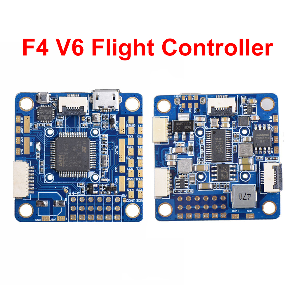 NEW F4 V6 Flight Controller OSD STM32 F405 5x UARTs 30.5x30.5mm for RC ZMR250 Martian II 220mm Drone QuadcopterNEW F4 V6 Flight Controller OSD STM32 F405 5x UARTs 30.5x30.5mm for RC ZMR250 Martian II 220mm Drone Quadcopter