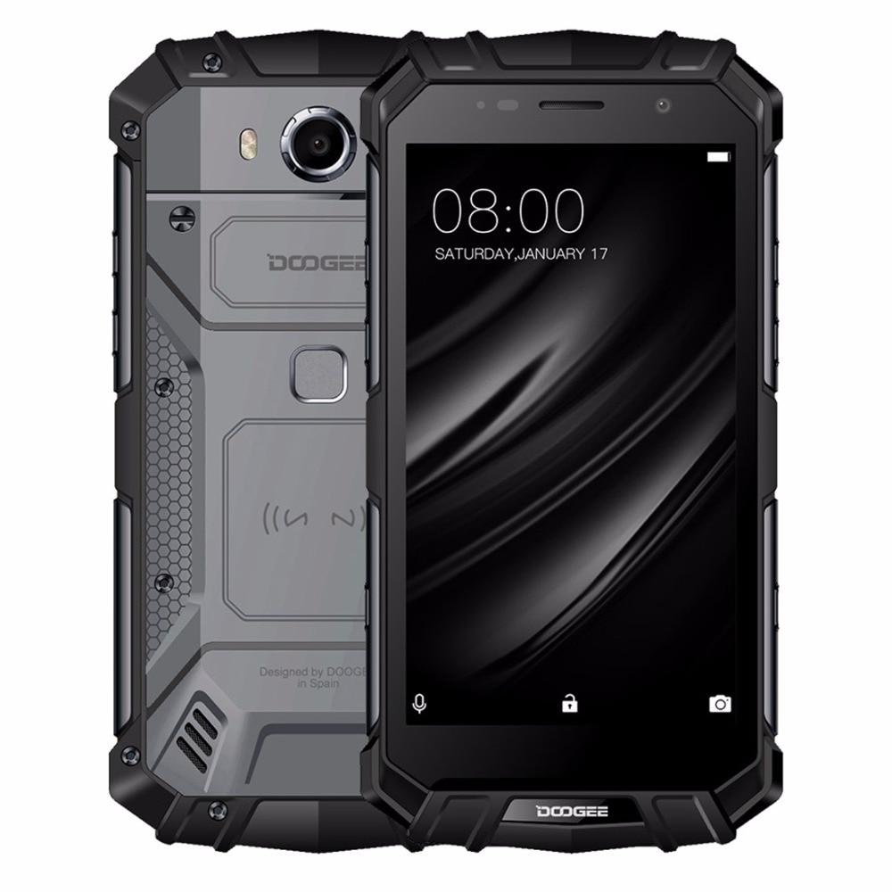 "DOOGEE S60 lite Mobile phone IP68 Waterpoof 5.2"" FHD 4GB+32GB MT6750T Octa-Core 16MP Fingerprint 5580mAh Android 7.0 Smartphone"