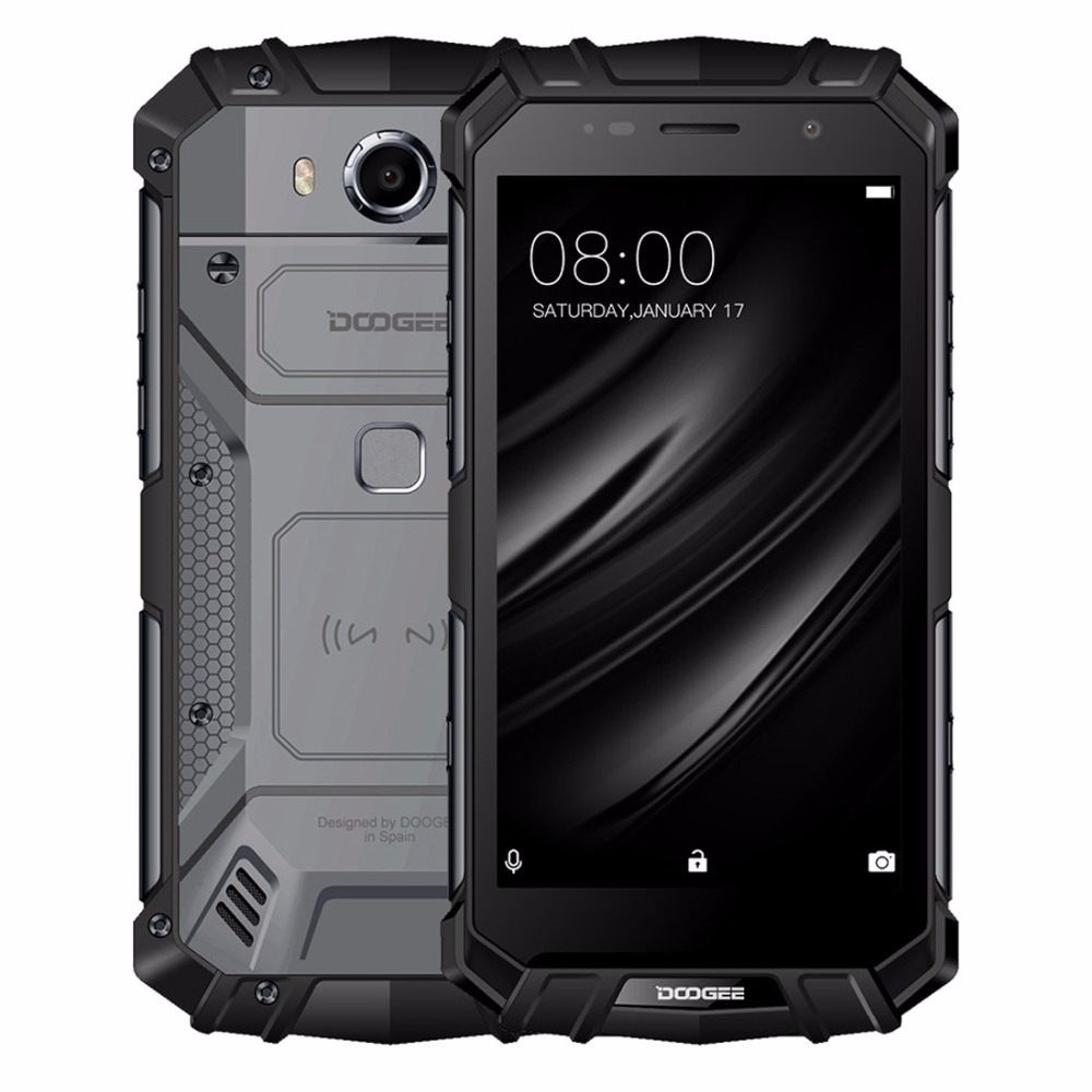 DOOGEE S60 lite Mobile téléphone IP68 Waterpoof 5.2 FHD 4 gb + 32 gb MT6750T Octa-Core 16MP d'empreintes digitales 5580 mah Android 7.0 Smartphone