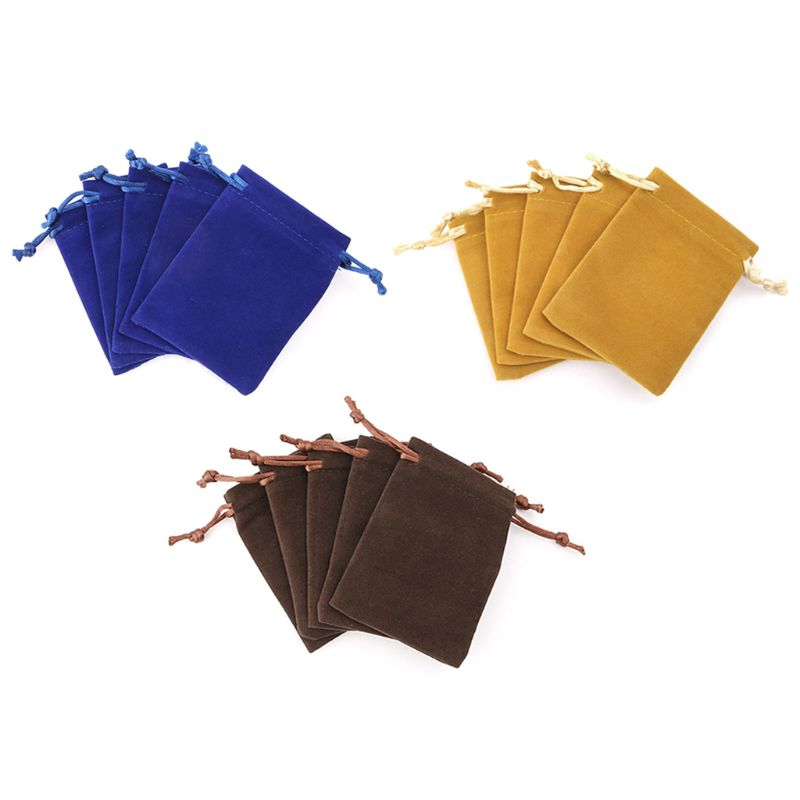 5pcs Dungeons And Dragons Dice Bag Velvet Drawstring Bags Tarot Card Jewelry Bag