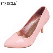 Размер 31-45 бренд дамы туфли на каблуках удобные женщины весна краткий делопроизводство классика платье обувь обувь каблуки P23445