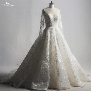 Image 3 - RSW1322 Real Pictures Yiaibridal Long Sleeve Wedding Dress Champagne Robe De Chambre
