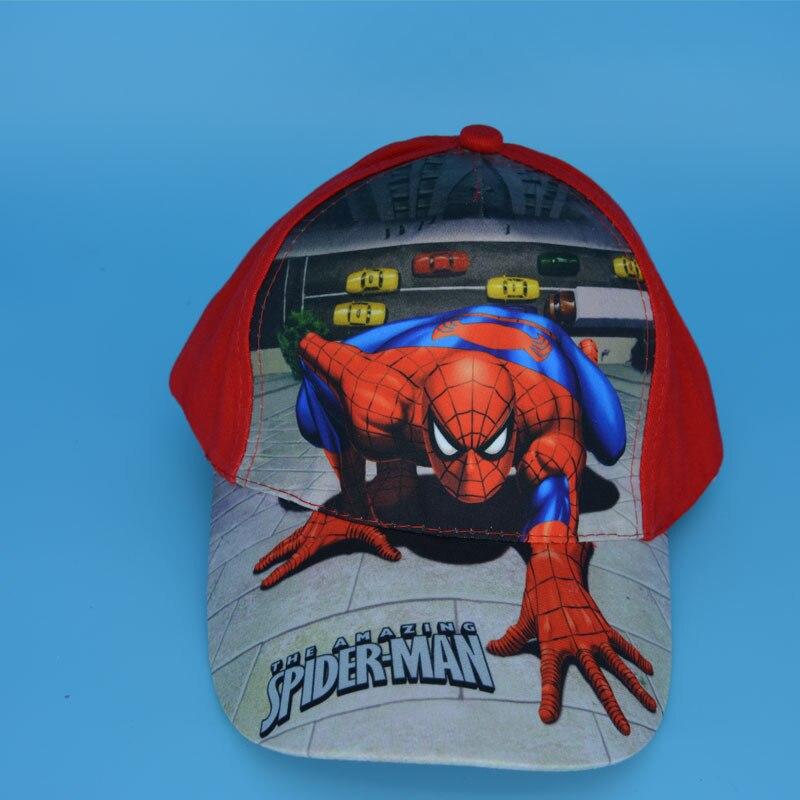 2 COLORS Spider-man <font><b>Spiderman</b></font> Sport <font><b>Baseball</b></font> Kid Child <font><b>Cap</b></font> Hat Sun Hat <font><b>Blue</b></font> <font><b>RED</b></font> New