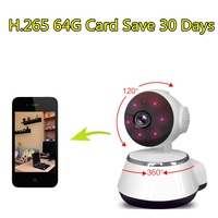 WIFI IP Camera HD 720P CCTV Security Wireless PTZ Camara P2P Indoor Infrared IR Network H