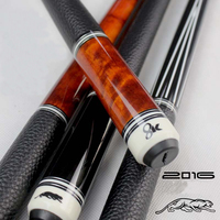 High Quality China Billiard Pool Cues 11 5mm 12 75mm Tip Black Orange Colors 8 Pieces