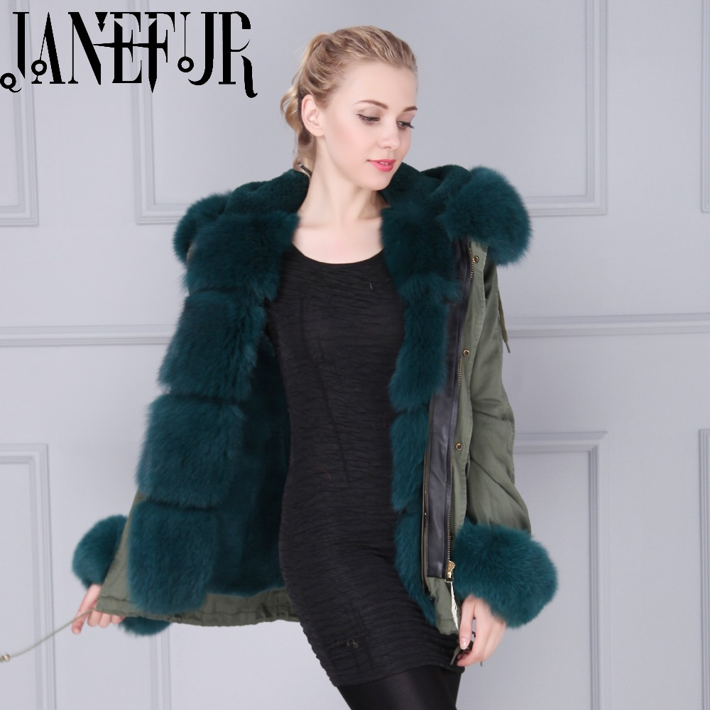 Real Fox  Fur Trim /Cuff/Collar Parka With Removable Hood for Women Brand Winter Oversize Overcoat manitobah перчатки suede mitt with fur trim lg charcoal св серый