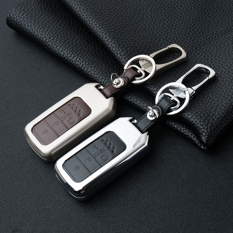 Zinc alloy Car Key Fob Cover Case Protect Skin For Honda Accord Civic CRV CR-V 2015 2016 2017 Pilot Vezel XRV CRIDER Crosstour carbon fiber leather car remote key case chain keyless fob cover for honda civic 2017 accord fit crv cr v xrv crosstour hrv jazz