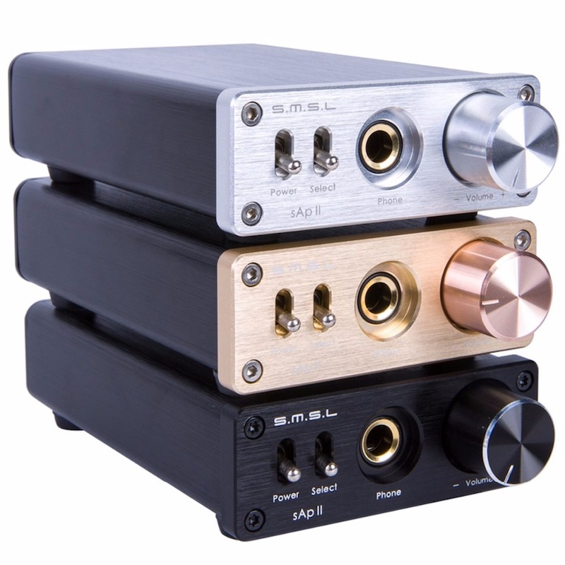 SMSL SAP II Headphone Amplifier HIFI EXQUIS TPA6120A2 Big Power Headset AMP SAP II