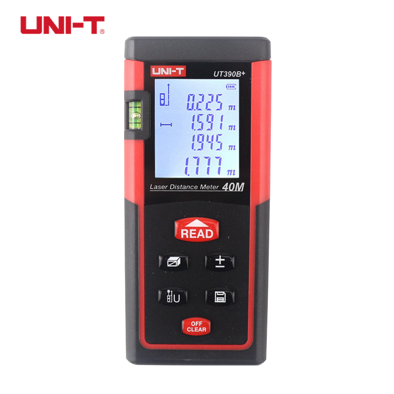 UNI-T UT390B+ UT391+ Laser Distance Meter Handheld 40M 60M Rangefinder Self-calibration Level Monitoring Automatic Calibration yihm hm 40 1 8 lcd handheld laser distance meter black blue 2 x aaa 0 05 40m