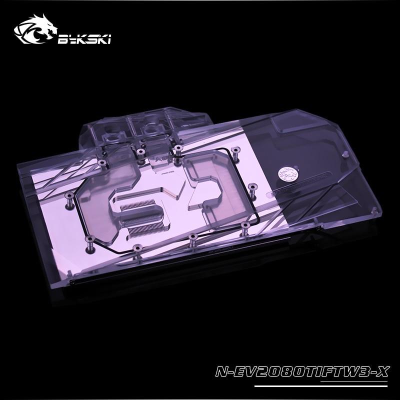 Bykski Water Block Use For EVGA RTX2080TI FTW3 Ultra-Gaming SKU(11G-P4-2487-KR)/Full Cover Copper Radiator Block/A-RGB/RGB Light