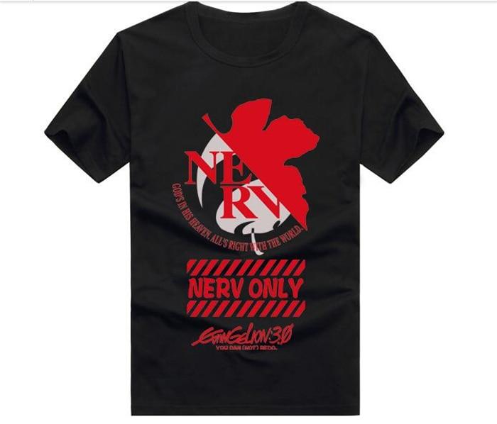 de 2017 camisa Eva Group parejas Alibaba Genesis japonesa envío en Neon Evangelion t en hombre corta mujer anime vestido Camiseta del libre ppq4wUr