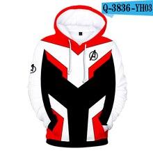 Avengers 4 Endgame Quantum Realm Hoodie Avenger 4 Sweatshirt Marvel Avengers Clothing Hooded Mens Hoodie Zipper Hoodies Costumes