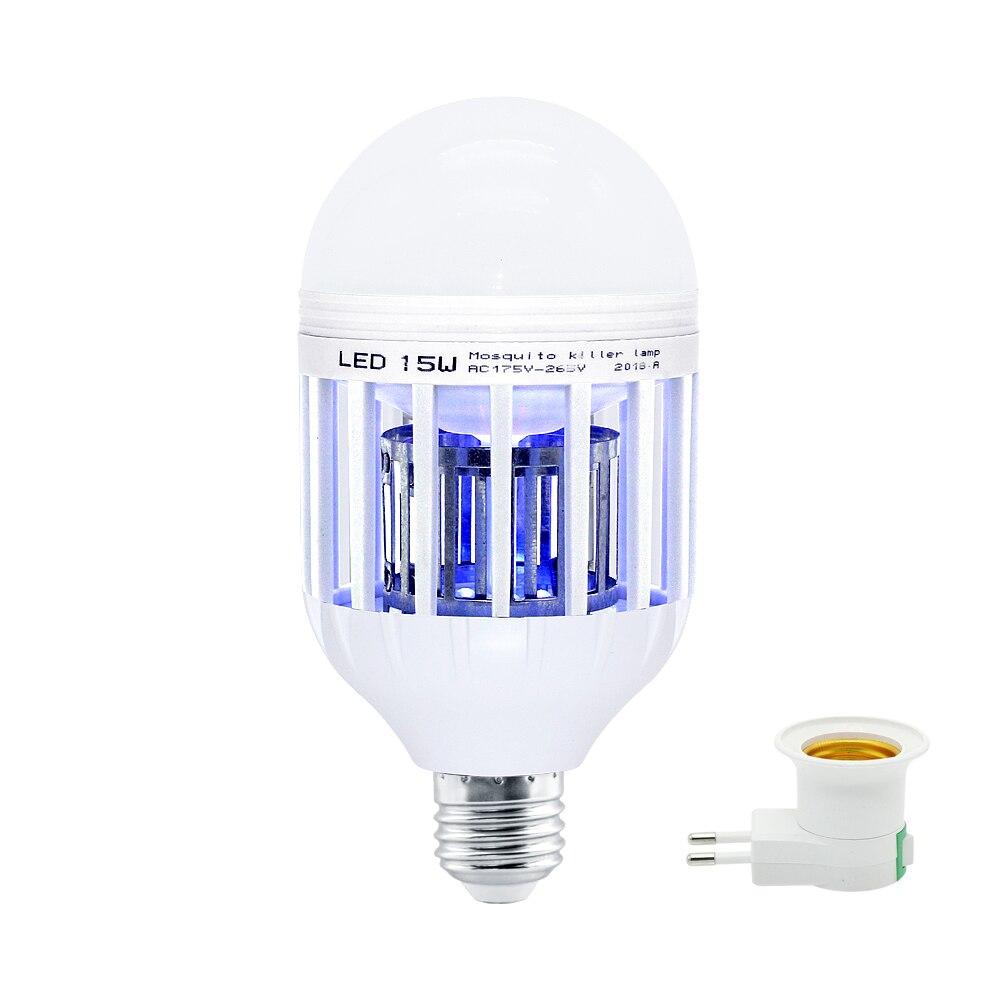 15W LED Mosquito Killer Lamp AC 220V E27 Light Bulbs Home Lighting Bedroom Electronic Anti-mosquito Lights