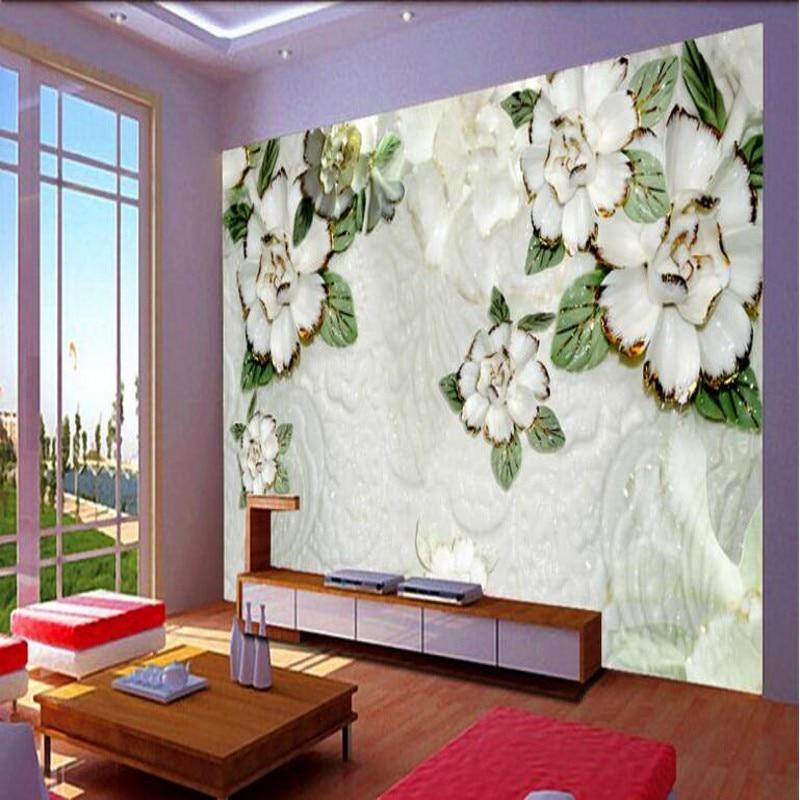 beibehang Groot kleuren carving aangepaste behang slaapkamer ...