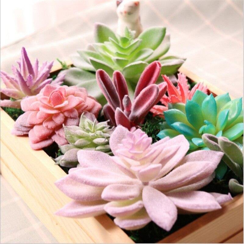 Various Lifelike Mini Artificial Succulent Flowers Foliage Plastic Plant Fake Flower Wedding Christmas Party Home Decortion