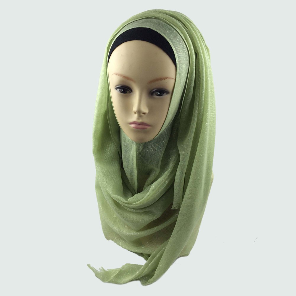 Мусульманский хиджаб мерцание шарф хиджабы блестящий шарфы мерцающий шаль, можете выбрать цвет - Цвет: color21