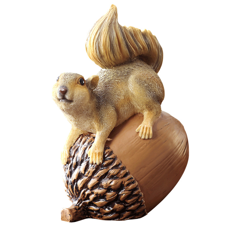 Cartoon Squirrel Piggy Bank Home Decoration Accessories New Year'S Gifts Creative Resin Crafts Large Money Box Coin Box Decorate