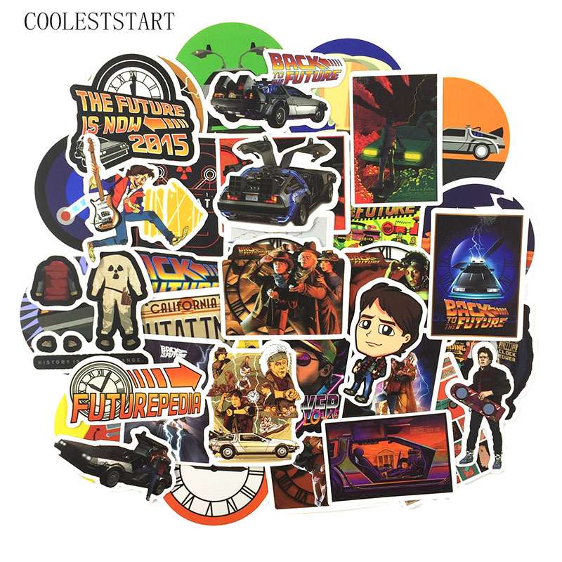 50 Pcs/Pack Classic Movie Back To The Future Stickers For Luggage Laptop Motorcycle Skateboards DIY Art Painting Photo Stickers