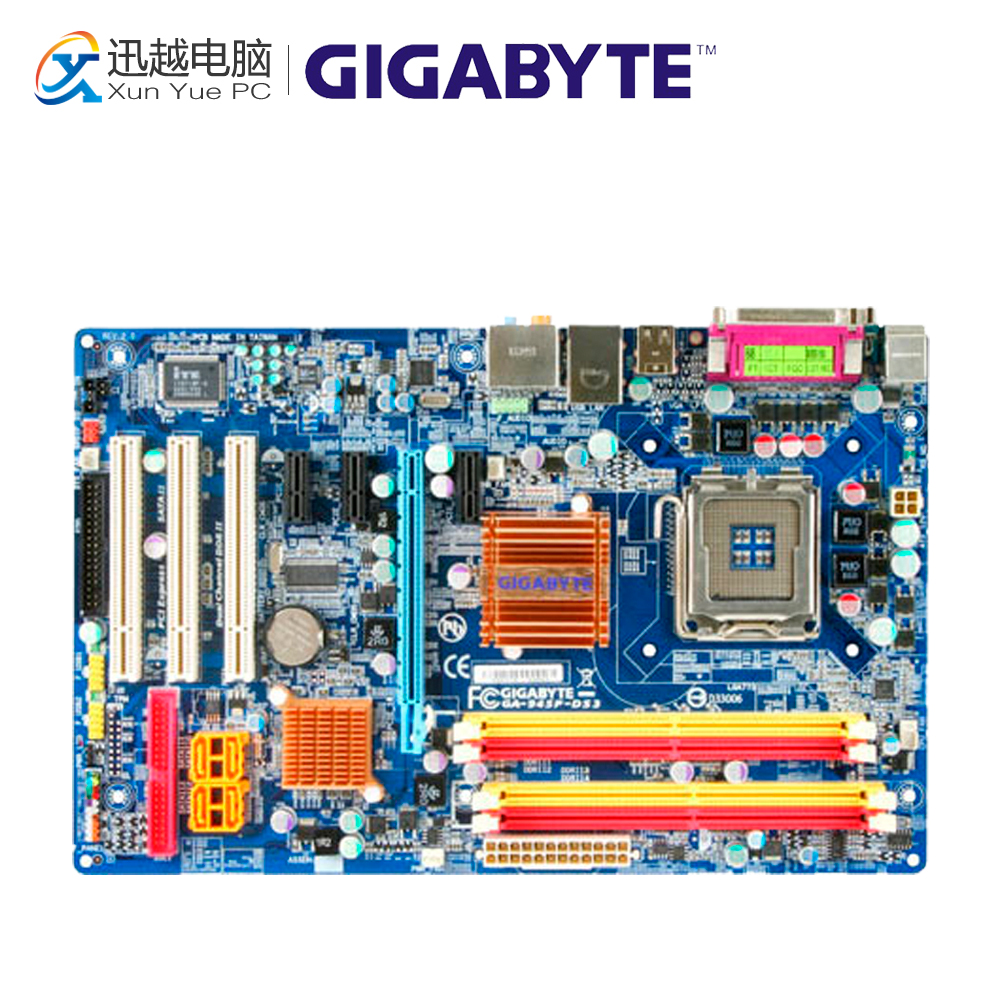 Gigabyte GA-945P-DS3 Desktop Motherboard 945P-DS3 945P LGA 775 DDR2 Micro ATX весы garin ds3 1cr2032