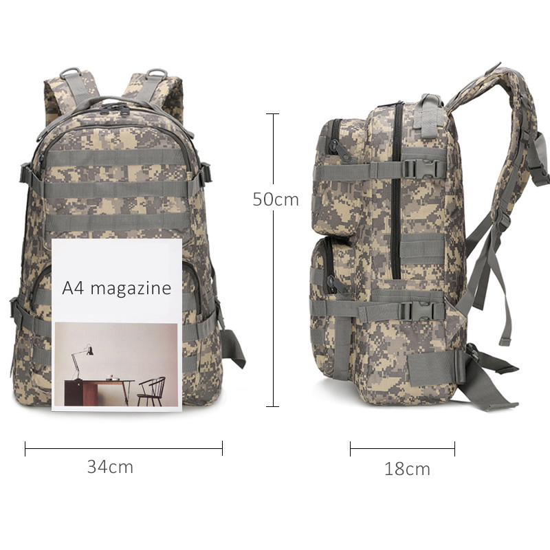 40L Large Capacity Men 39 s Military Tactics Backpack Multifunction Waterproof Mountaineering Backpacks Travel Bag Mochila Hombre in Backpacks from Luggage amp Bags