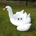 Inflatable Swan Baby Seat Swimming Float Inflatable Water Toys Fun Pool Floats Inflatable Raft Boia Piscina