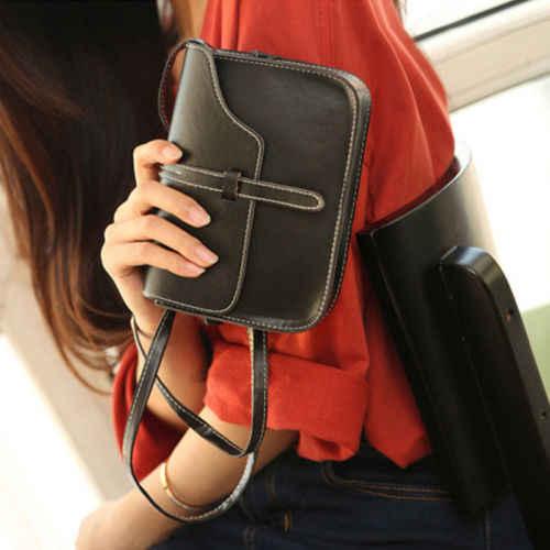 Kobiety skórzana torba na ramię torby kopertę Crossbody Messenger portfel kiesy moda torba vintage torba portfel
