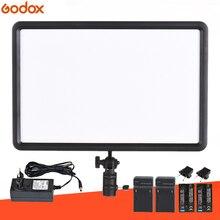 GODOX светодиодный P260C ультра-тонкий 30 W светодиодный видео Панель лампы + 2 шт. F750 Батарея комплект для цифровых зеркальных Камера Фотостудия