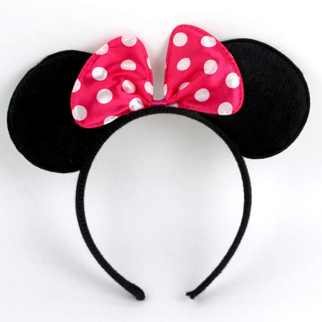 Summer Vacation Couple Friends Minnie Mouse   Mickey Mouse Hair Band Ears  Bow Headband Birthday ec8fef5b487