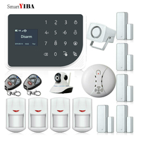 SmartYIBA wifi Alarmes GPRS GSM система домашней сигнализации приложение управление IP камера Дымовая пожарная сигнализация инфракрасный PIR сенсор Allarme к
