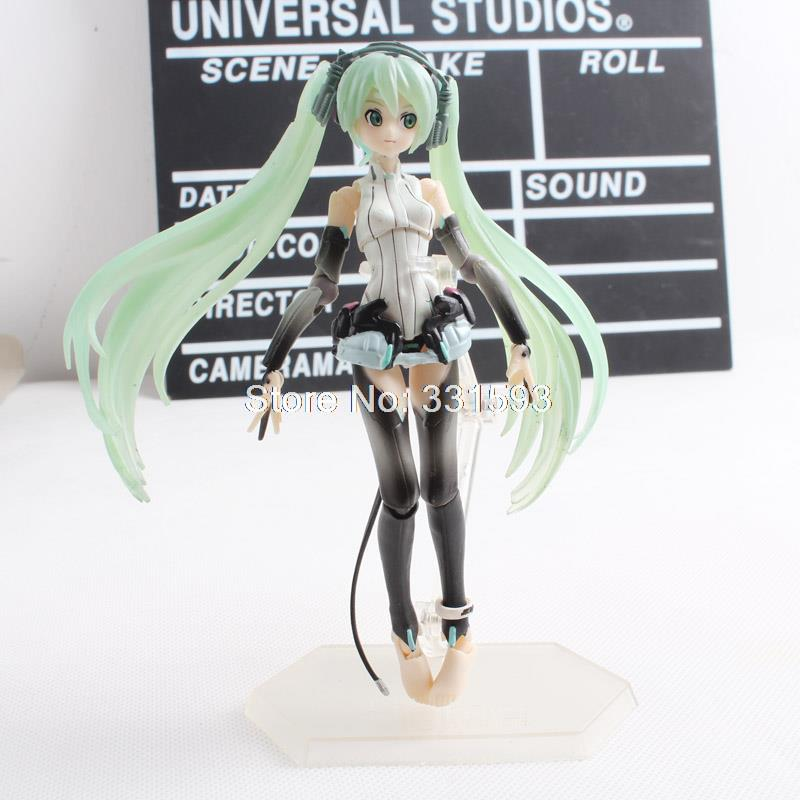 Vocaloid Hatsune Miku Figma 100 PVC Action Figure Movable Model Collectible Toy hatsune miku ride bicycle figma 307 racing miku 2015 teaomukyo support ver pvc figure collectible toy 15cm kt4009