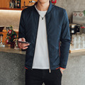 2017 New Jacket Men Overcoat Solid Casual bomber Jackets Comfortable Slim Mens Outwear Spring Autumn Fashion Overcoat