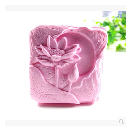 Stone Carving Lotus Shaped Soap Mold Design Flower