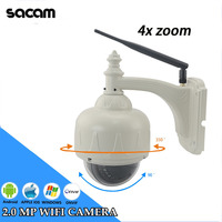 SACAM Outdoor Security Waterproof Wifi Wireless HD 720p IP Camera PTZ Dome White