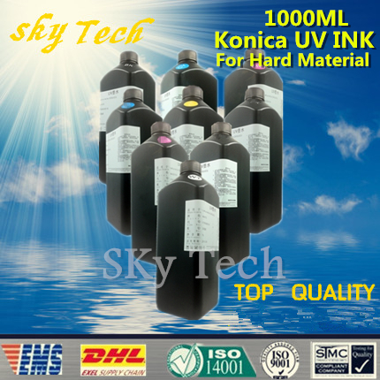 LED UV INK 1000ML*9 ,UV ink For Konica printhead UV printer .for metal PVC KT Board PMMA etc hard materials free shipping best price konica 512i printhead connector board for inkjet printer large format printers 512i printhead