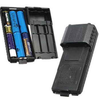 цена на Portable Black Extended 6x AA Battery Case Pack Shell For BaoFeng UV5R UV5RB UV5RE Walkie Talkie
