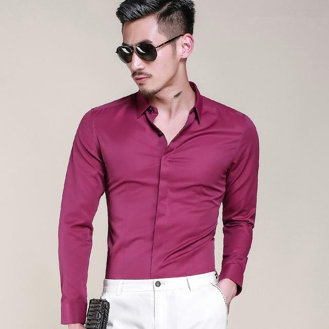 2017 Nueva Oficina de Trabajo de Negocios Camisas de Los Hombres Camisa Para Hombre de la blusa Ocasional camisa masculina camisa de vestir Informal Slim Fit Marca de ropa