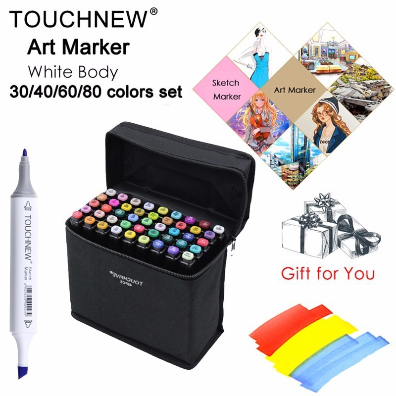 Touchfive Art Markers Pen Dual Head Marker Set Oily Alcoholic Sketch Marker Brush Pen Art Supplies for Animation Manga Draw touchfive 30 40 60 80 colors drawing marker pen animation sketch markers set for artist manga alcohol marker brush supplies