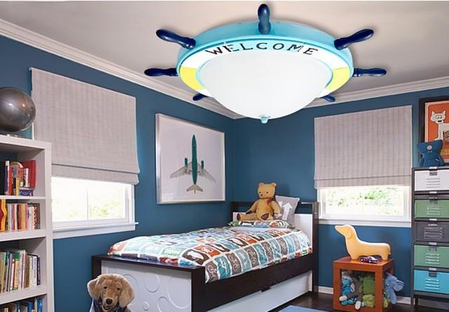 Art roer mediterrane led plafond lampen warm romantische kinderkamer