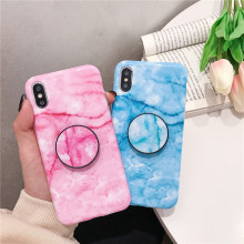 Get more info on the Marble Pattern Silicone Case for iPhone 7 6 8 Plus 6s X Cute Shell Cover Bumper Skins with Fashion Phone Holder Kickstand