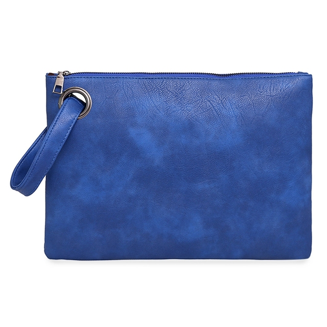 Guapabien New Fashion Women Clutch Bag PU Leather Women Envelope Bag Solid Color Female Evening Bag Clutches Handbag Wristlet