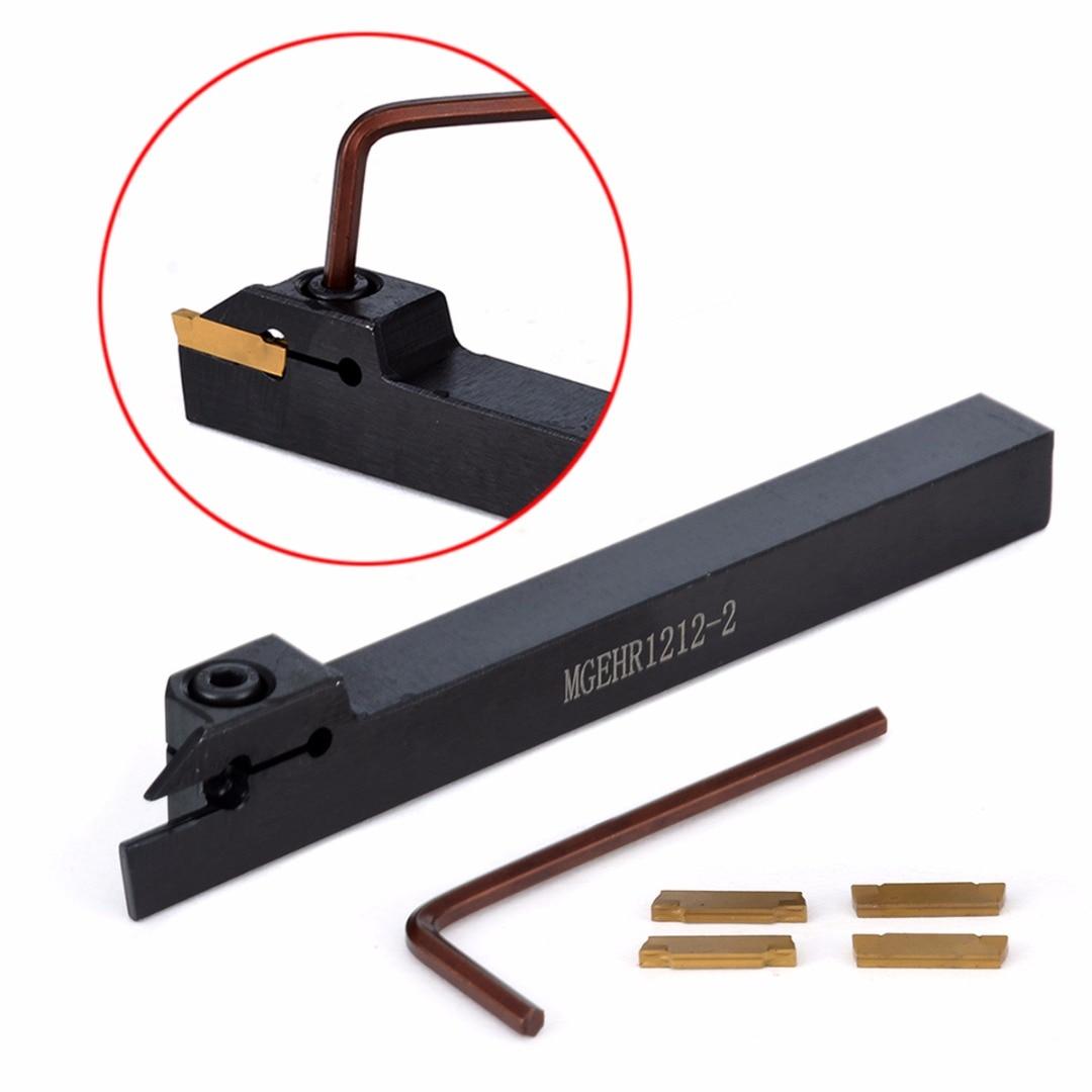 4 pz MGMN200 Inserti In Metallo Duro + MGEHR1212-2 Noioso Bar + Wrench Pratico CNC Tornio Utensile da tornio