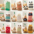 10cm Spring and Winter Children Baby Cartoon Animal bear cats owl Christmas Warm Gift Anti-skid Floor Child Girl Boy Boxed Socks